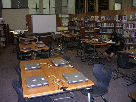 Laptops at the library