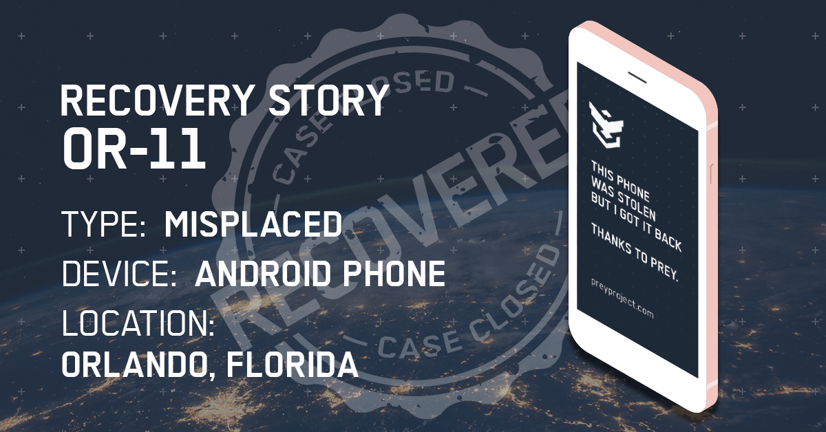 phone recovered orlando